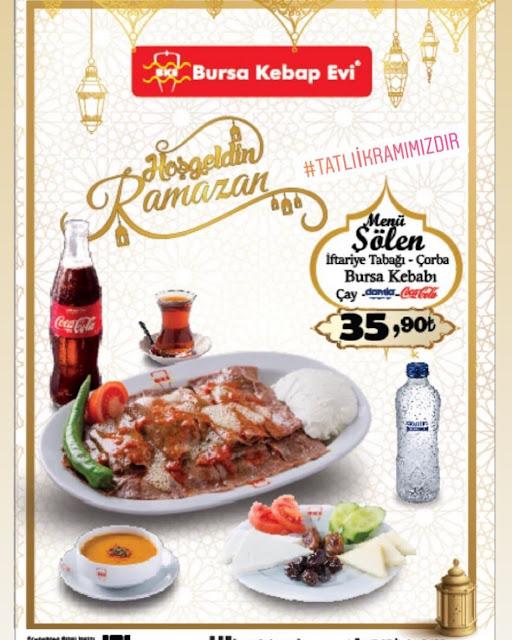 bursa kebap evi byz outlet kayseri ramazan 2019 iftar menü fiyatları