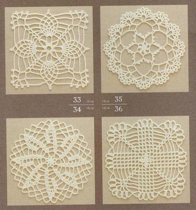 Motivos [Squares] Florais de Crochê Com Gráfico Nº 11