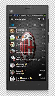 BBM MOD AC Milan Base v3.1.0.13 APK Terbaru 2016 Anti Lemot