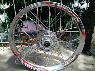 Velg Ride It Silver Depan