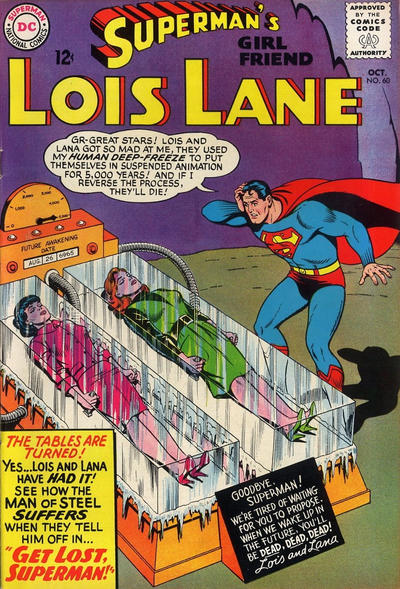 Episode #388 Part III: Superman Family Comic Book Cover Dated October 1965: Superman's Girl Friend Lois Lane #60!
