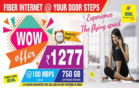 Switch over to BSNL's Ultra Fast FTTH Broadband plans and get ASEEM facility at no extra cost