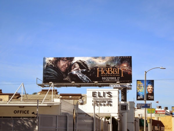 Hobbit Battle of the Five Armies billboard