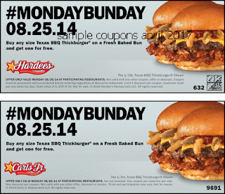 Hardees coupons april 2017