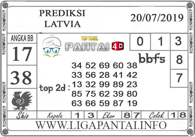 """PREDIKSI TOGEL """"LATVIA"""" PANTAI4D 20 JULI 2019"""