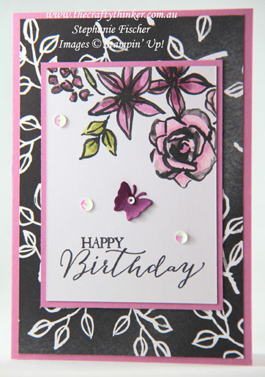 #thecraftythinker, #stampinup, #cardmaking, #quickeasycard, Petal Passion Memories & More cards, Stampin' Blends, Stampin' Up! Australia Demonstrator, Stephanie Fischer, Sydney NSW