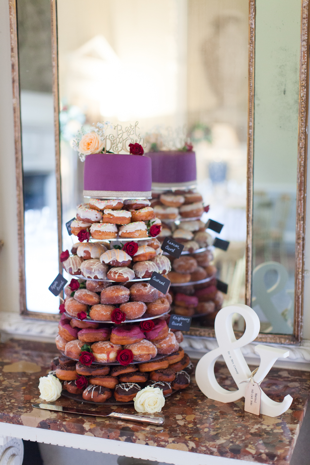 wedding cake doughnut tower