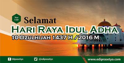 Free Desain Banner Idul Adha 2016