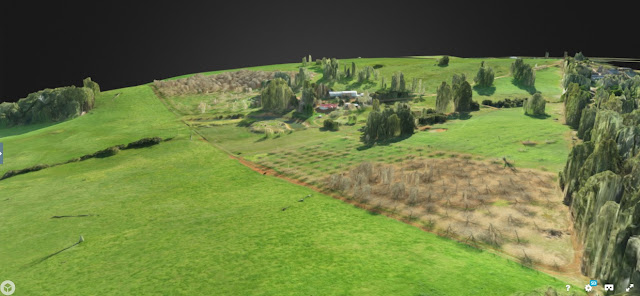 Chestnut Brae Drone scan Small farm planning 3D map
