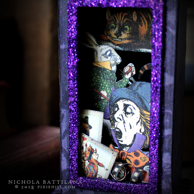 Hallowe'en in Wonderland Clock #G45DarkSide Nichola Battilana