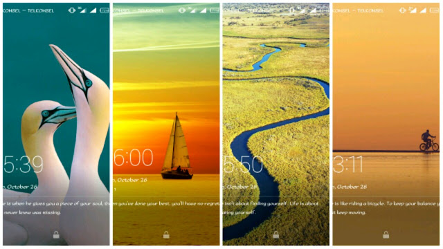 Magazine lock Screen di Infinix Hot Note
