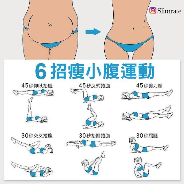 瘦小腹方法、瘦小腹運動