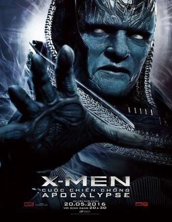 Poster Of X-Men Apocalypse 2016 Dual Audio 180MB HDTC HEVC Mobile ESubs Free Download Watch Online Worldfree4u