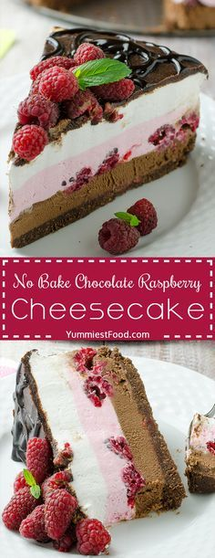 No Bake Chocolate Raspberry Cheesecake Recipe