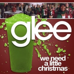 """We Need A Little Christmas"" by the Glee cast is #1 on Candycane's playlist."