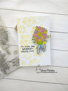 Think Spring! a card by Diane Morales | Loads of Blooms Stamp Set by Newton's Nook Designs