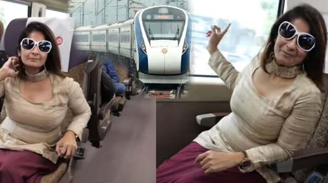 इस महिला ने दिखाया कैसी है दिल्ली-वैष्णो देवी वंदे भारत एक्सप्रेस की यात्रा - newsonfloor.com