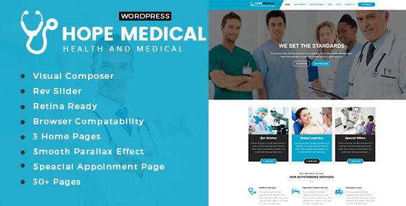 Hope Medical - Health And Medical WordPress Theme