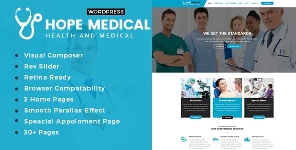 Hope Medical - Health And Medical WordPress Theme