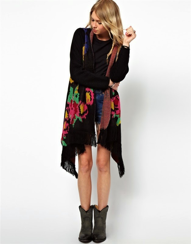 Long Sleeve Printed Cardigan