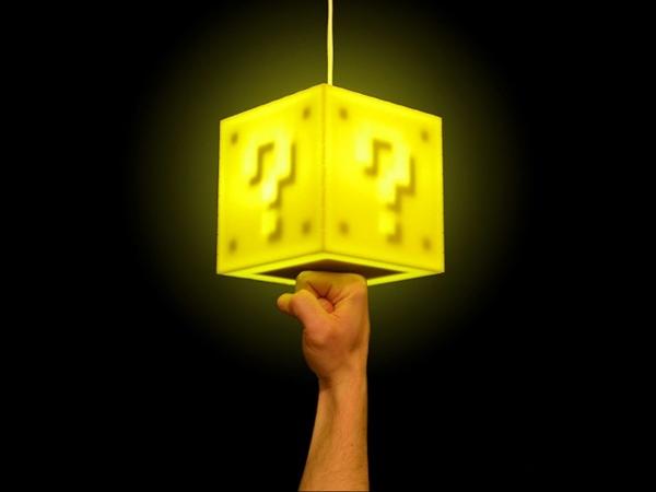 decoração luminária geek