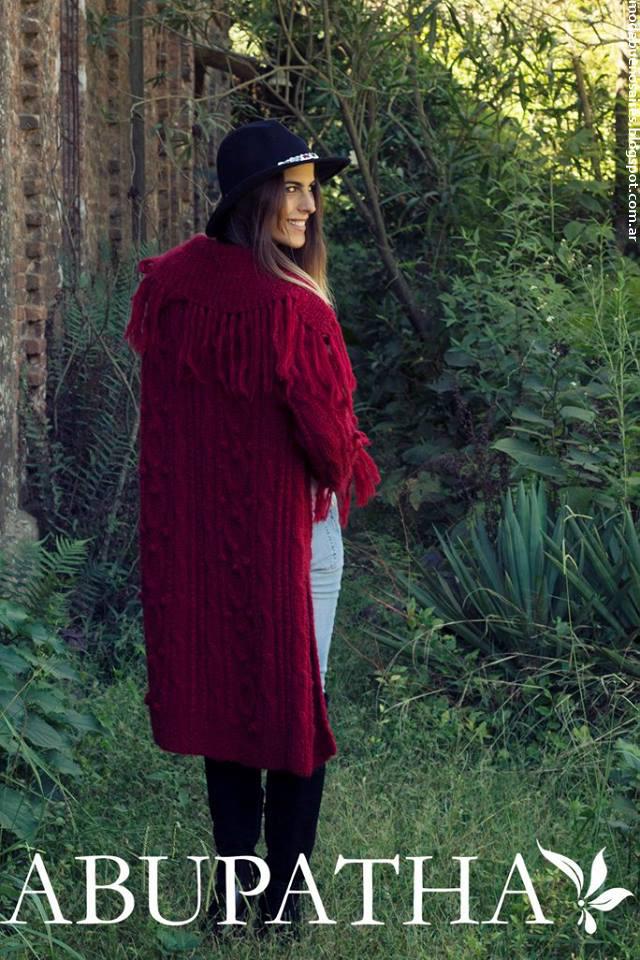 Moda otoño invierno 2016 Abupatha tejidos.
