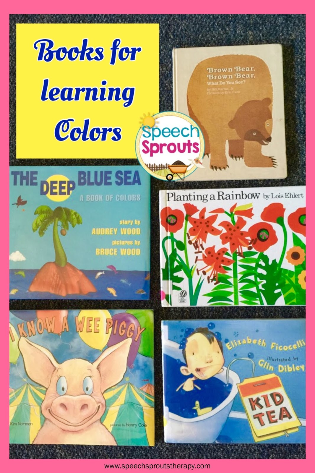Speech Sprouts: 5 Great Storybooks for Teaching Colors