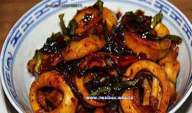 Resep cumi lezat nasi box cimanggu ciwidey