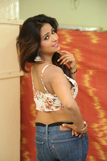 Deekshita Parvathi in a short crop top and Denim Jeans Spicy Pics Beautiful Actress Deekshita Parvathi January 2017 CelebxNext (49).JPG