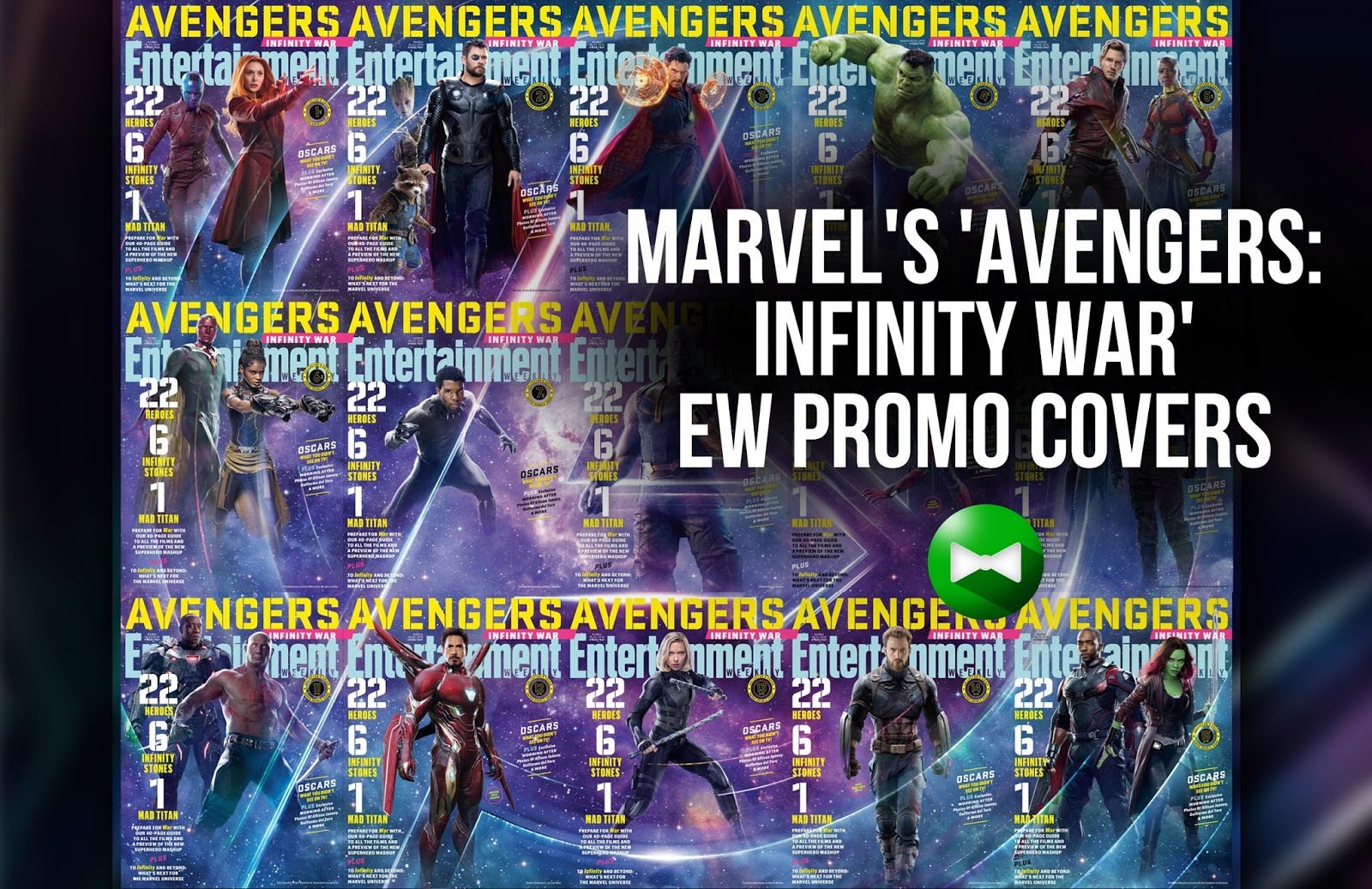 Entertainment Weekly features cover variations for Avengers