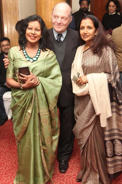 Padmashri Kathak Guru Shovana Narayan,Dr. Herbert Traxl, Austrian Ambassador to India (retired) and Kaushalya Reddy