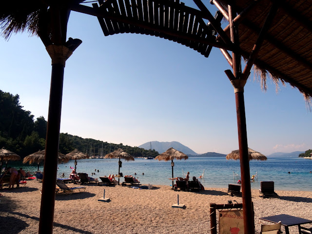 Agrios Beach Bar on Spilia Beach