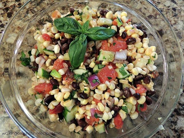 Corn Fiesta Salad from Walking on Sunshine Recipes.