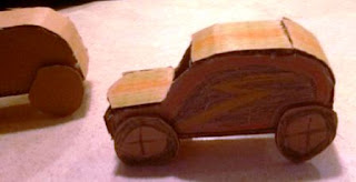 Cara membuat Mobil Mainan dari Kertas Kardus