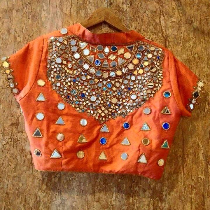 Sparkling Fashion Latest Mirror Work Blouse Designs