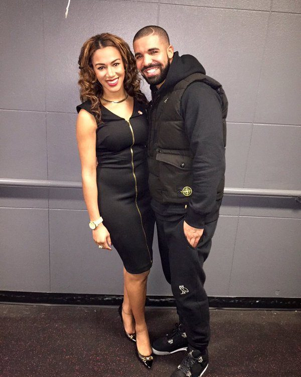 """Drake Attends the 2017 NBA Awards with Nigerian NBC Sports reporter Rosalyn """"Ros"""" Gold-Onwude"""