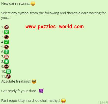 New Dare Returns - Select any symbol