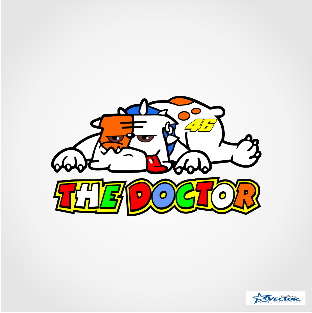 valentino rossi 46 dog logo vector cdr download