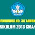 Permendikbud Nomor 36 Tahun 2018 Tentang Kurikulum 2013 SMA/MA
