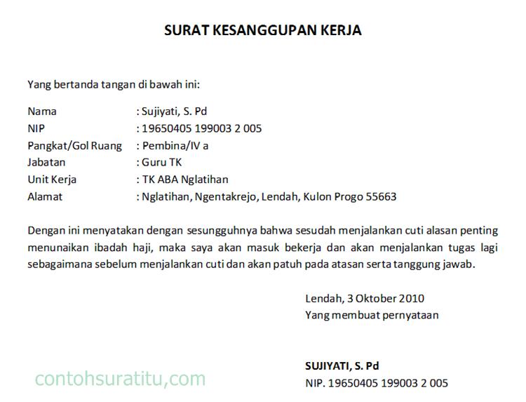 Contoh Surat Contoh Surat Rasmi Permohonan Cuti Haji