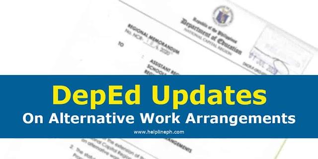 DepEd Updates On Alternative Work Arrangements