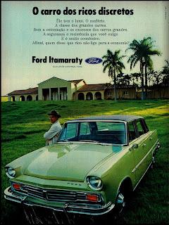 propaganda Ford Itamaraty - 1971, Reclame carros 1971