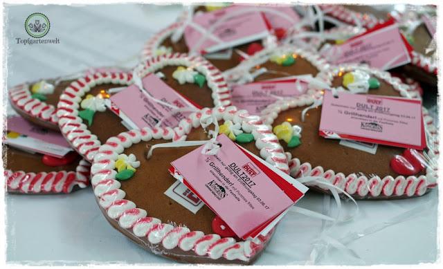 Gartenblog Topfgartenwelt Salzburger Dult 2017: Lebkuchenherzen für geladene Gäste