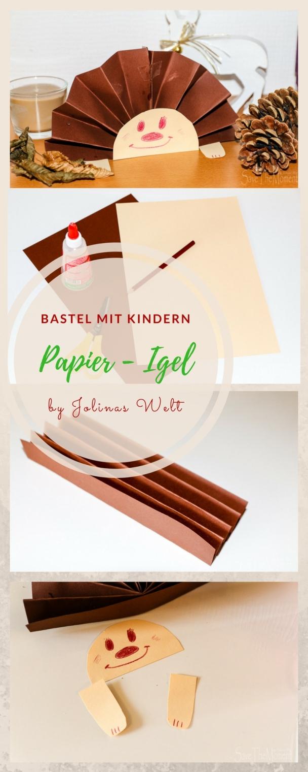 Jolinas welt basteln mit kindern im herbst igel aus papier for Herbstbasteleien mit kindern basteln