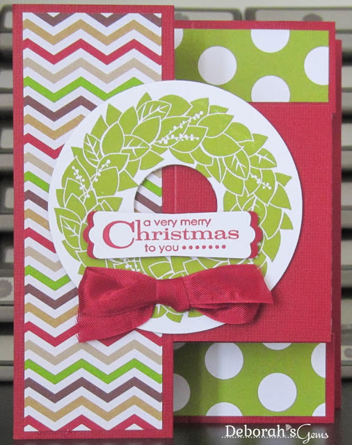 Christmas Wreath - photo by Deborah Frings - Deborah's Gems - A CASE of Julie Davison's card