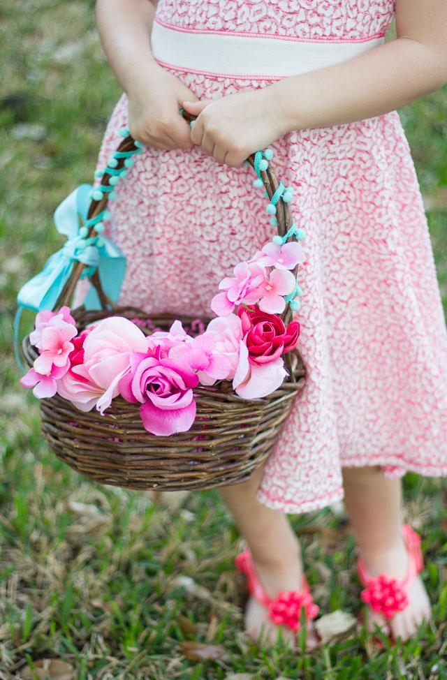 Expensive Flower Girl Baskets : Thrifty diy floral easter baskets design improvised