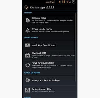 Cara Install CWM Recovery Tanpa PC di Android dengan Mudah menggunakan rom manager apk