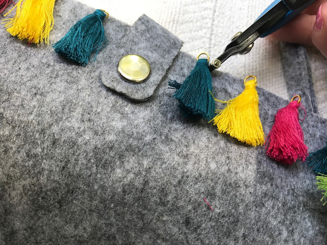 tassel tote, trends, summer trends, DIY, Oriental Trading