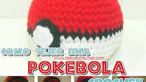 Cómo tejer una Pokebola al crochet / Tutorial