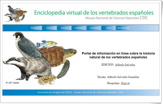 """Enciclopedia virtual de los vertebrados españoles"""
